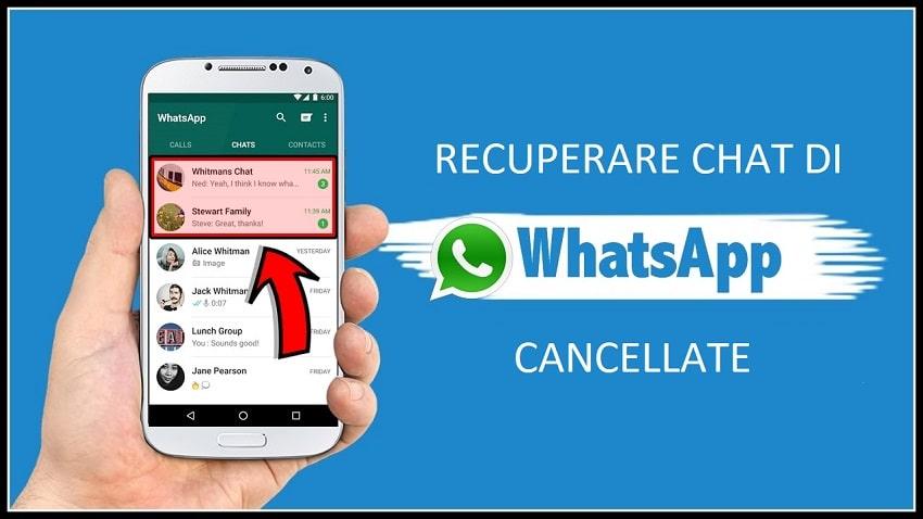 recuperare chat cancellate su whatsapp