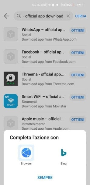 scaricare whatsapp su huawei
