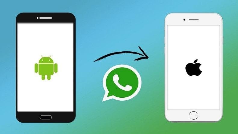 spostare le chat di whatsapp da android a iphone