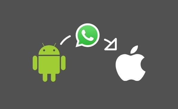 trasferire messaggi whatsapp da android a iphone