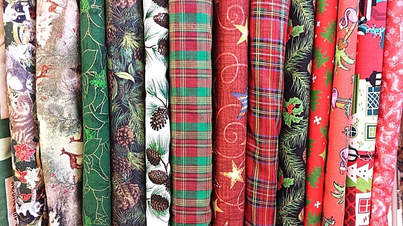 scegliere tessuti vintage per il natale