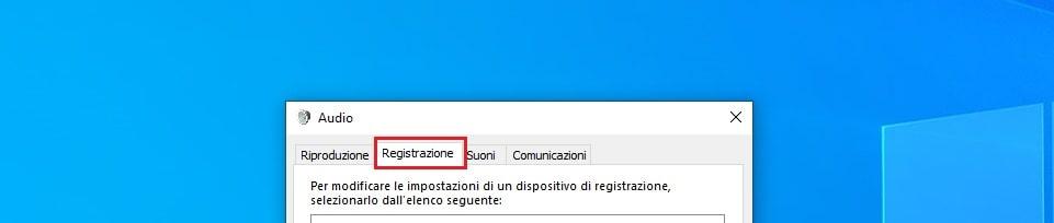 scheda registrazione Windows 10