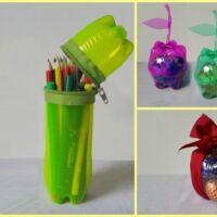 riciclare la plastica a casa