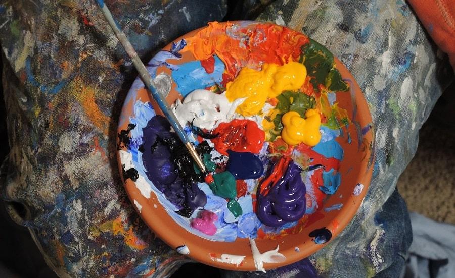 dipingere con i colori a tempera