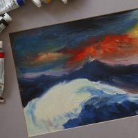 dipingere con i colori ad olio