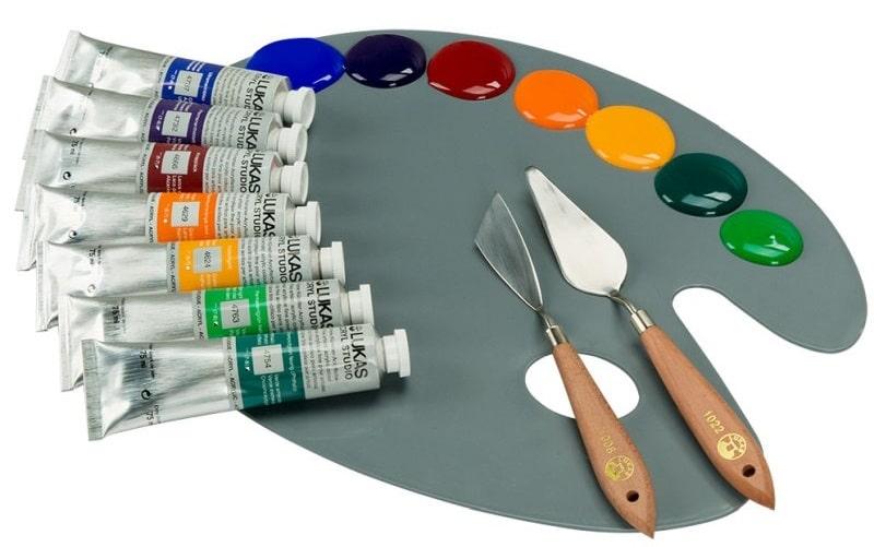sfumare i colori acrilici