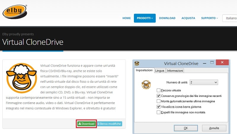 montare file iso con virtual clone drive