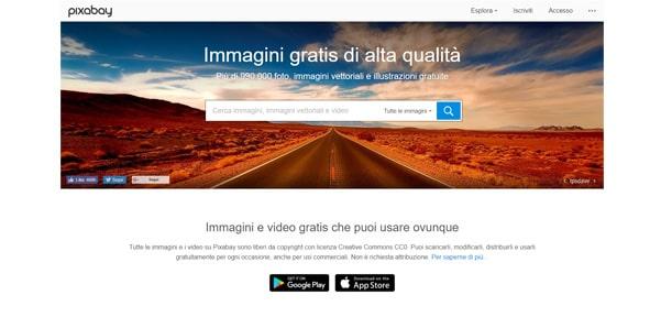 immagini senza copyright su pixabay