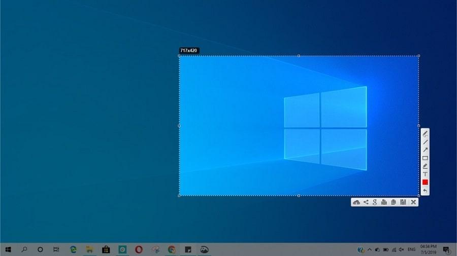 catturare screenshot con puntatore del mouse