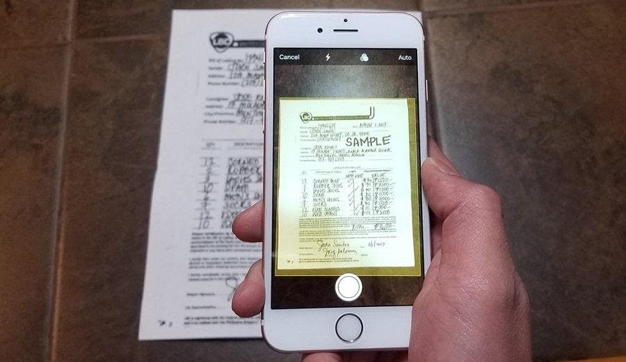 come scannerizzare documenti con l'iphone