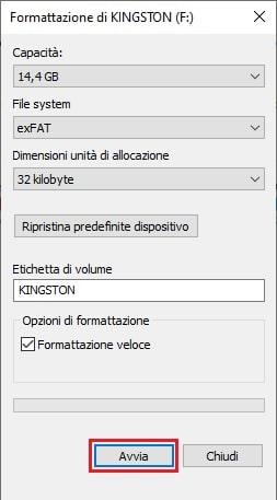 formattazione chiavetta usb mac