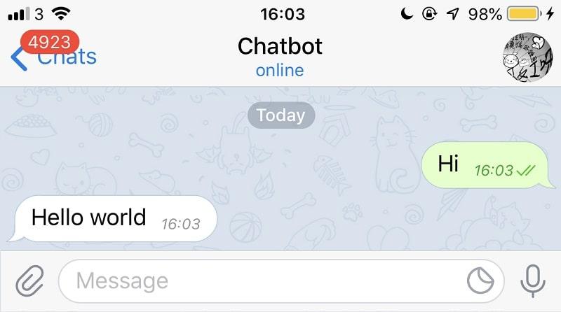 messaggi con telegram