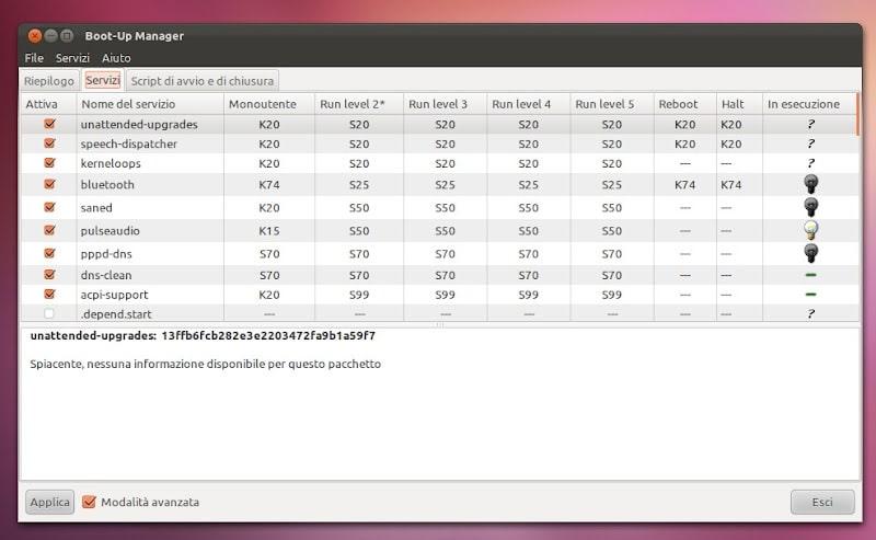 pulire ubuntu con boot up manager