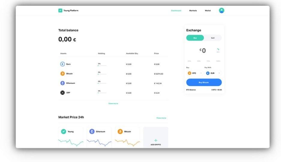 Acquistare e vendere Criptovalute su Young Platform