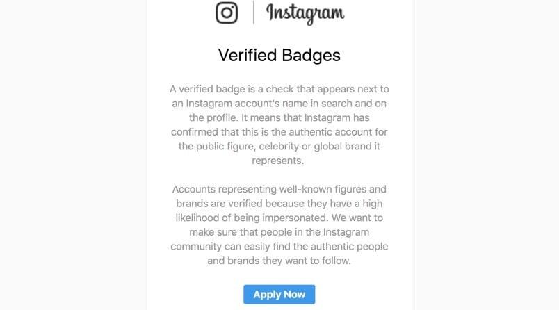 come inviare la richiesta per avere la spunta blu su instagram